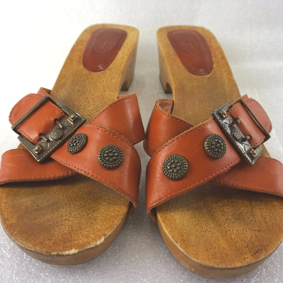 1b421d2579e6 Dr. Scholl s Shoes - Dr. Scholl Wood Sandals Women Leather Slides