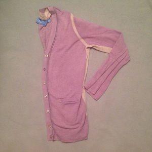 Simply Vera Vera Wang Sweaters - purple cardigan with gray stripe