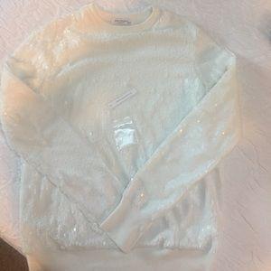 EQUIPMENT Femme XS White Sequin Sweater!
