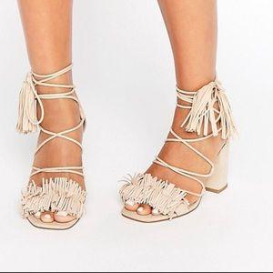 Asos fringe sandals