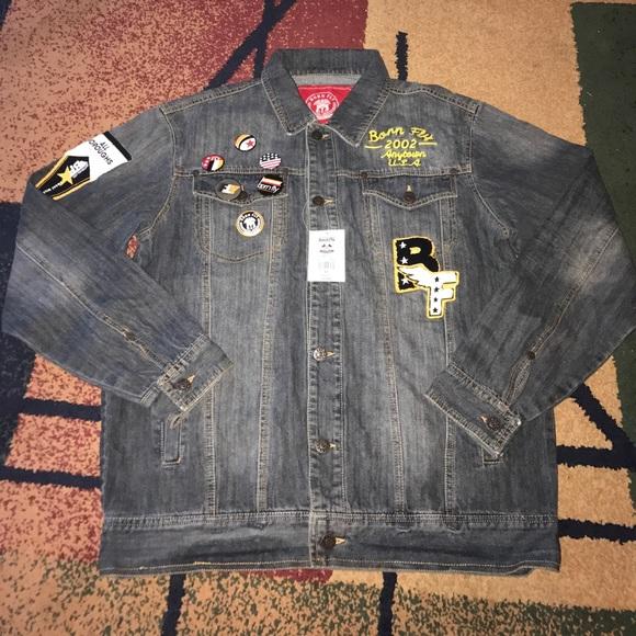 70e8345540619 Akoo Jackets & Coats | Born Fly Mens Denim Jean Jacket Xl Nwt | Poshmark
