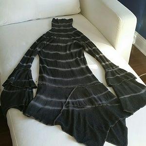 Beautiful gray tyedye asymetrical sweater dress