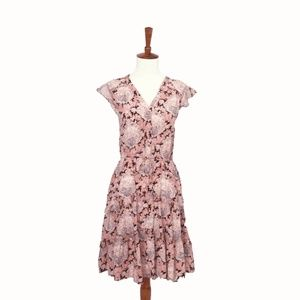 Anthropologie Floral Layered Dress