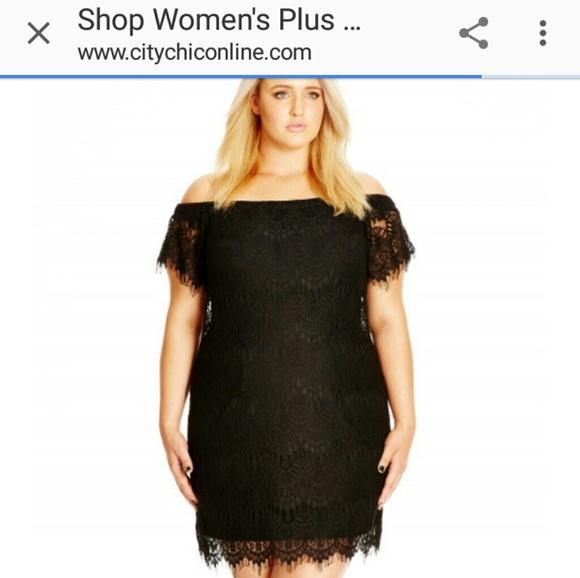 4ce07096590d City Chic Dresses | Black Lace Dress | Poshmark