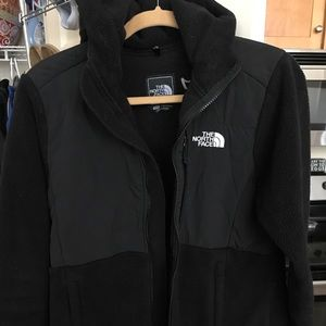 The North Face hooded denali jacket