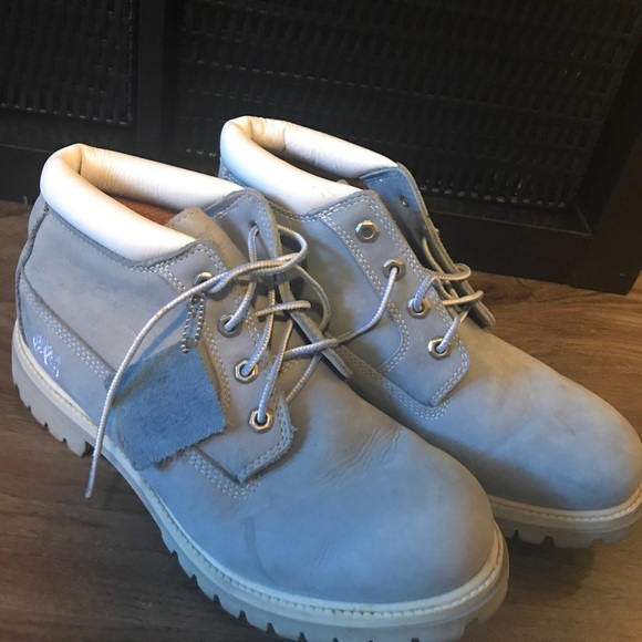 baby blue timberlands mens