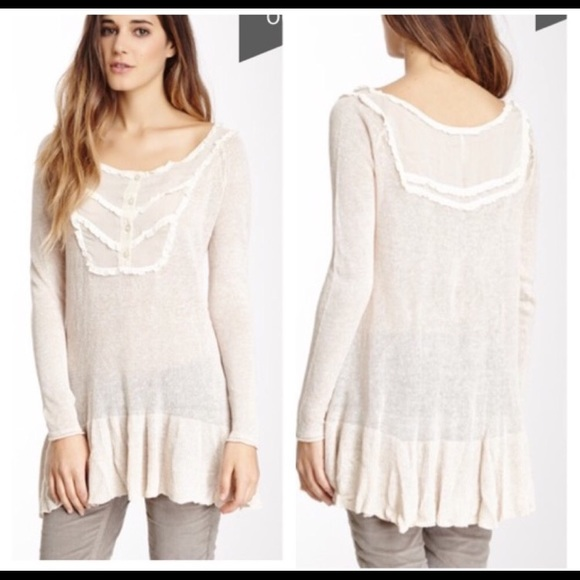 SALE  NWT Free People Cream Fall Sweater 85e6006e2