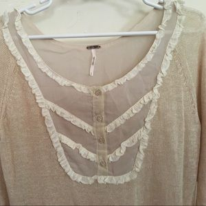 Free People Sweaters -  SALE  NWT Free People Cream Fall Sweater d092fc527