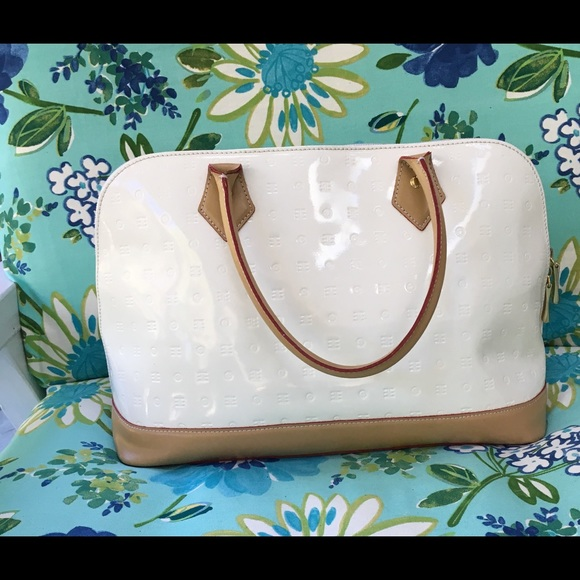 0fffc063f34 Arcadia Bags | Patent Leather White Bag | Poshmark