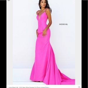 Sherri hill hot pink dress