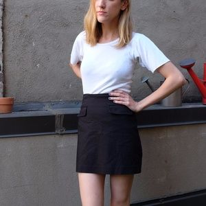 Forever 21 Black Mini Skirt with Faux Pockets