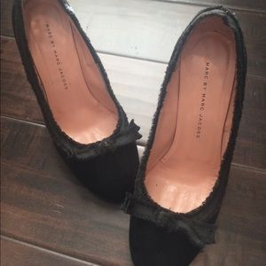 Marc by Marc Jacobs Black Suede Pump