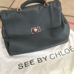 AUTHENTIC SEE BY CHLOE CHARCOAL GREY BAG