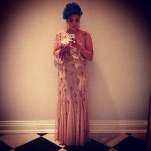 Sequin One Shoulder evening gown