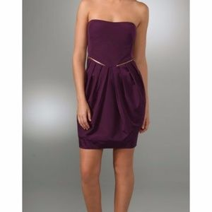 See by Chloe Purple Strapless Ottoman Dress