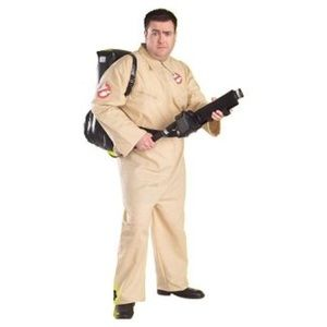 Men ghostbusters costume with inflatable backpack