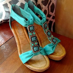 Brand new turquoise wedges!