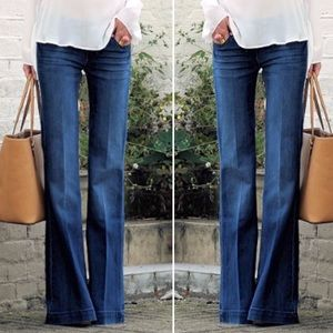 Theory wide leg flare trousers jeans pants 0