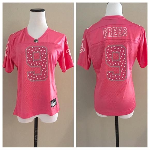pink drew brees jersey