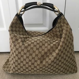 Gucci Bags - Gucci Horsebit Hobo Large ba05643612ad1