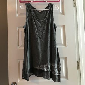 Cold water creek gray tank top