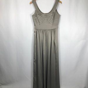 BCBGeneration Grey Long Formal Dress Maxi Evening
