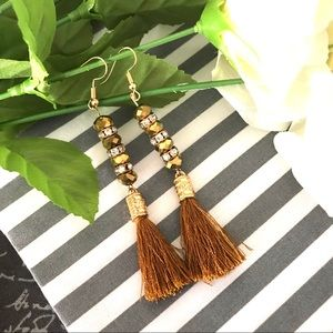 Jewelry - ✨New! Iridescent Tassel Earrings (Gold Edition)