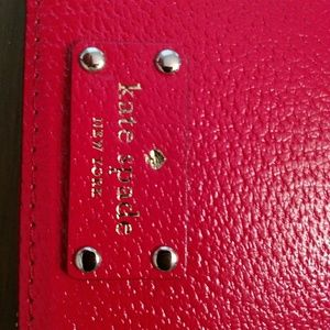 Kate Spade red leather planner