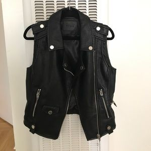 Size small faux leather motorcycle vest