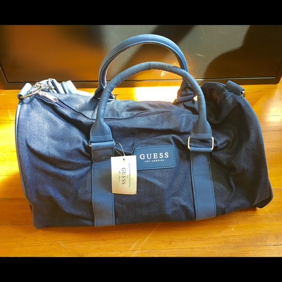 NWT Guess Denim Duffle Bag b02f82ba95c82