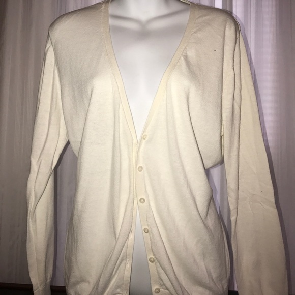 36% off Old Navy Sweaters - Old Navy White Button Down Sweater ...