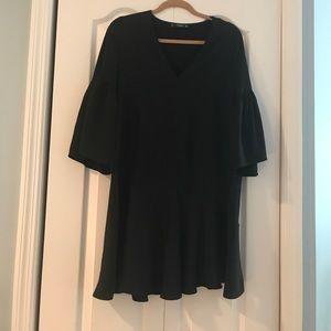 Black Mango Ruffle Dress NWOT