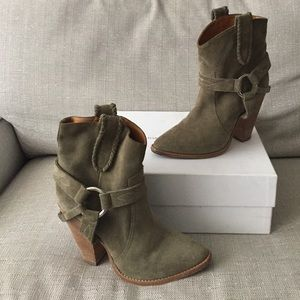 Isabel Marant Rawson Western Ankle Boots US 7 FR 8