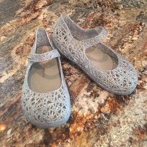Mini melissa silver shoes