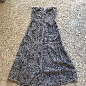 Rebecca taylor python print strapless dress