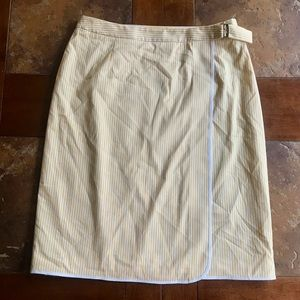 Brooks Brothers white and yellow skirt