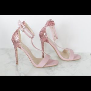 Pink Glitter Heels US Women Size 8