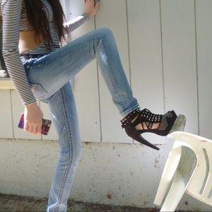 MISS ME Jeans, Straight Leg Light-Wash Size 24