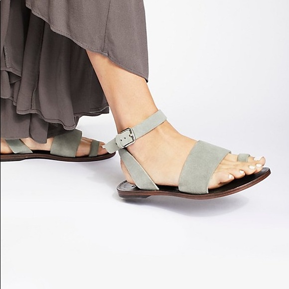 4cc18cbd1ab Free People Shoes - Free People Torrence flat Sandal in turquoise