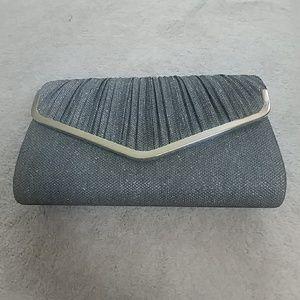 Handbags - Gunmetal Silver Sparkly Evening Purse