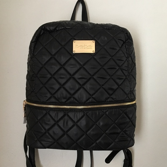 96209f9e36 bebe Bags | Quilted Backpack | Poshmark