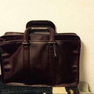 Coach leather briefcase / pc case