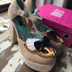 Iron Fist velvet heels