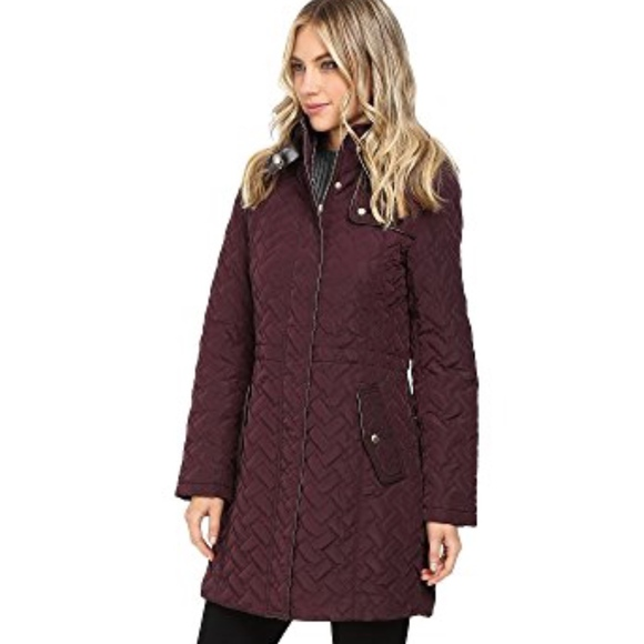 fea052035b99 SALE!Cole Haan Quilted Parka in Eggplant