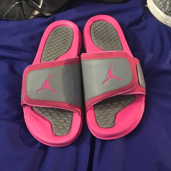 77d1d30073748e Air Jordan Other - Pink   Gray Kids Jordan Sliders