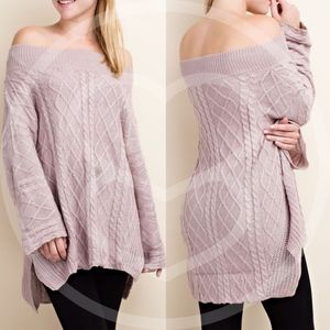 LEELA Hello Fall Knit Sweater - DUSTY PINK