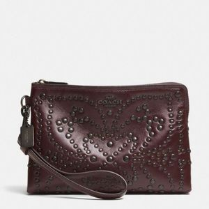 Coach Mini Studs Large Wristlet in leather