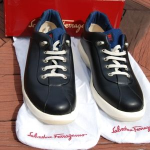 Ferragamo Leather Boat Sneakers - Like new!