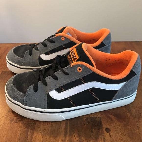 vans orange and grey shoes