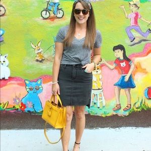 Joe's Jeans Black Denim Step Hem Skirt
